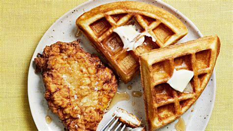 quick fried chicken  waffles