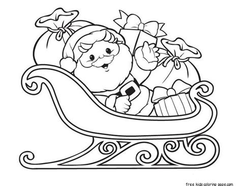 Santa Claus With Sleigh And Gifts