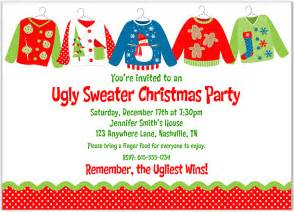 sweater party invitation