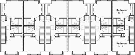 townhouse plans narrow lot 6 plex house plans row house plans townhouse plans