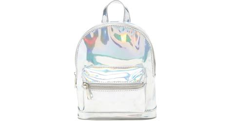 Forever 21 Holographic Mini Backpack In Metallic