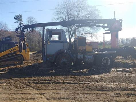 prentice  log loader  mack truck  sale blowing