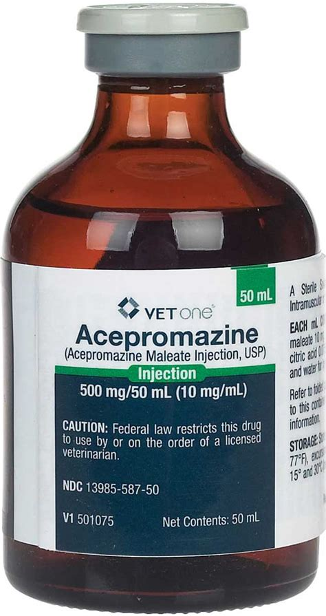acepromazine maleate injection  dogs cats  horses