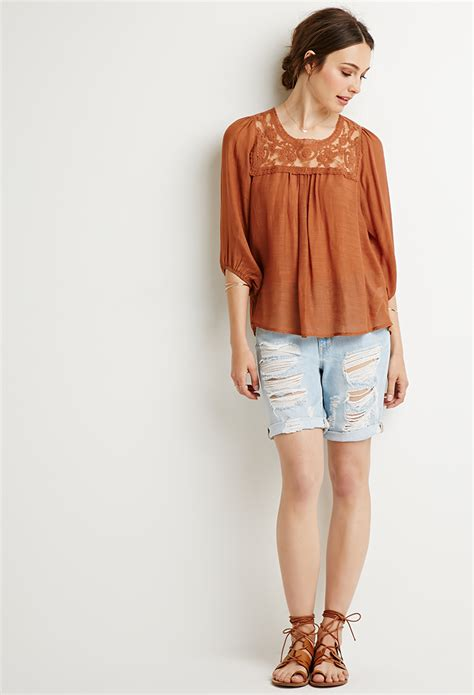 embroidered peasant blouse forever 21 contemporary embroidered peasant blouse in
