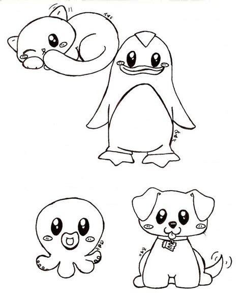 anime animal drawings easy  cute animals  bakauo