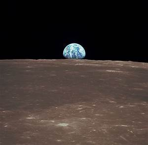 File:View from the Apollo 11 shows Earth rising above the ...