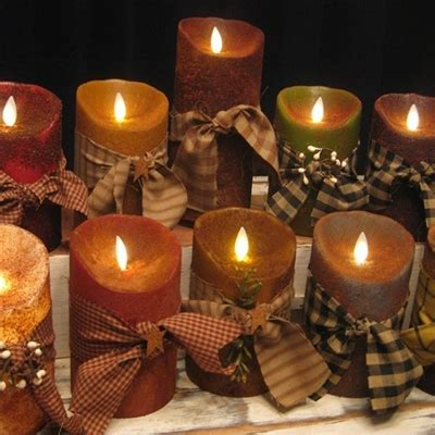 """5"""" Primitive Battery Operated Flameless Candles   The Red"""