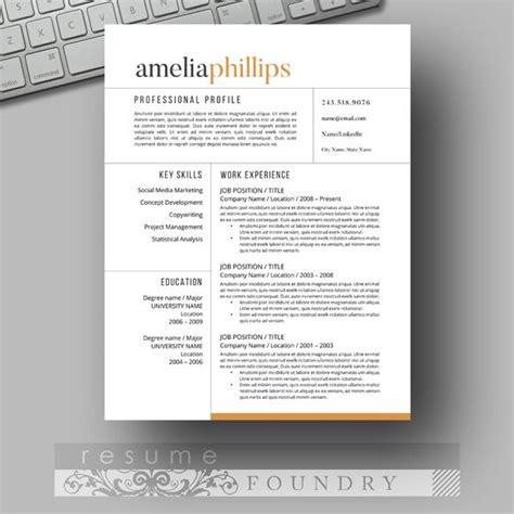 eye catching resume templates 40 resume template designs