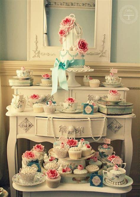 vintage tea party decor  treats ideas shelterness