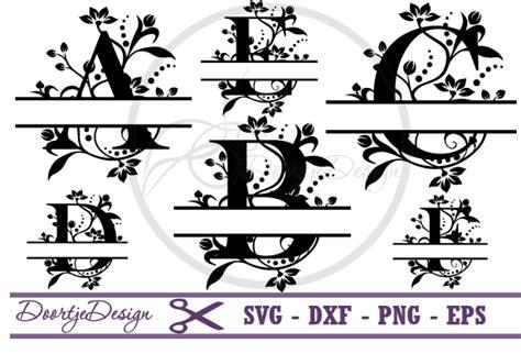 split monogram font svg florish  svgs design bundles