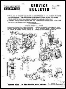 Howard Rotavator Engines Service Manuals Parts Jap 600