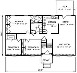 split level floor plan 1970s split level house plans split level house plan 26040sd pertaining to split level floor