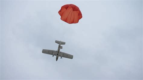 emergency parachute system  mtd long range uav plane youtube