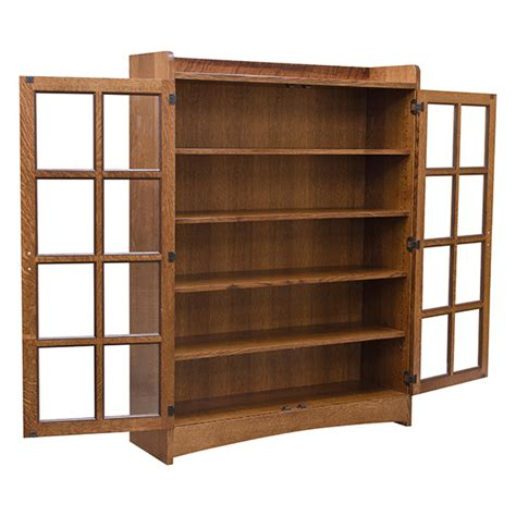 Mission Bookcase Glass Doors mission bookcase w glass doors bookcases barn furniture