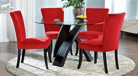 red white black dining room furniture ideas decor