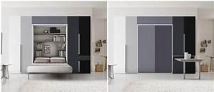 Lit Dans Armoire : lit escamotable armoire appartement pinterest lit ~ Premium-room.com Idées de Décoration