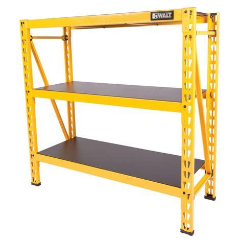industrial storage racks dewalt 48 in h x 50 in w x 18 in d 3 shelf steel