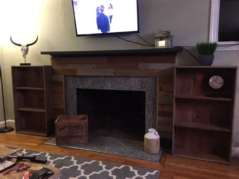 hometalk fireplace facade