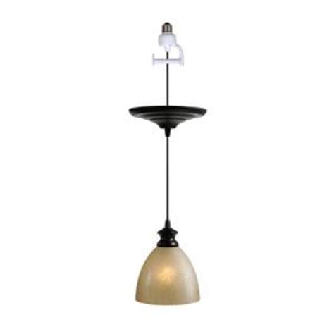 pendant light conversion kit worth home products antique bronze finish with linen glass