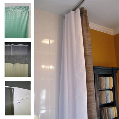 see through top panel shower curtains for institutional