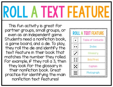 teaching nonfiction text features free included for grade