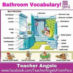 20 best house vocab images on pinterest learning english With bathroom vocabulary with pictures