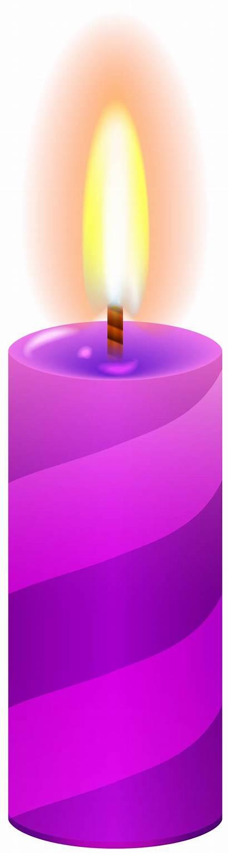 Candle Purple Clip Clipart Candles Transparent 1883