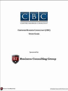 Business Consultant Certification