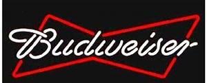 Budweiser Bowtie Enseigne Neon