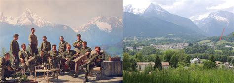 The Men Of Easy Company Sitting On Top Of The Eagle's Nest