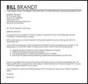 crane operator cover letter sle livecareer