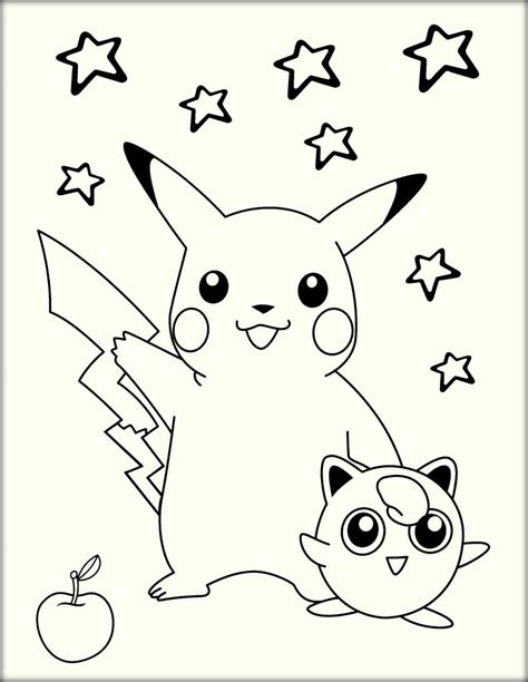 Pkiachu Cartoon Coloring Sheets To Download Color Zini
