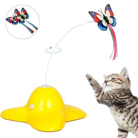 elektrisch drehender schmetterling katzenspielzeug