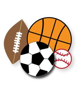 sports clipart  parties crafts school projects