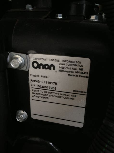 hi there i a onan rs12000 gas generator that