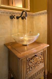 Cherry Blossom Bathroom Decor by Vessel Sinks Bathroom Traditional With Small Powder Room