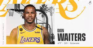 lakers sign dion waiters los angeles lakers