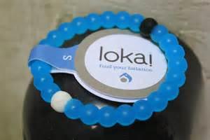 Lokai Bracelet Blue and Clear