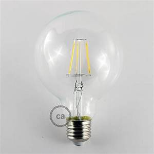 Ampoule Led Decorative : ampoule transparente led globe g95 filament court 4w e27 vintage d corative 2700k ~ Teatrodelosmanantiales.com Idées de Décoration