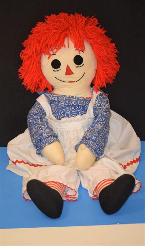 Huge Doll Raggedy Ann Cloth Doll Original Clothes from