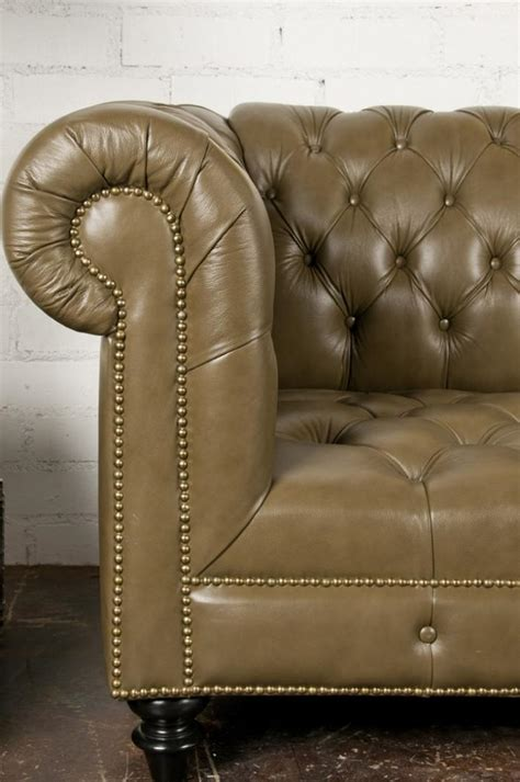 faux chesterfield sofa roomservicestore com chesterfield sofa in olive faux