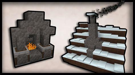 minecraft    working chimneys  fireplaces