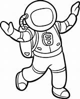 Coloring Astronauta Colorir Coloriage Colorear Astronaute Astronaut Clip Spaceship Illustrations Imagens Dessin Astronomia sketch template