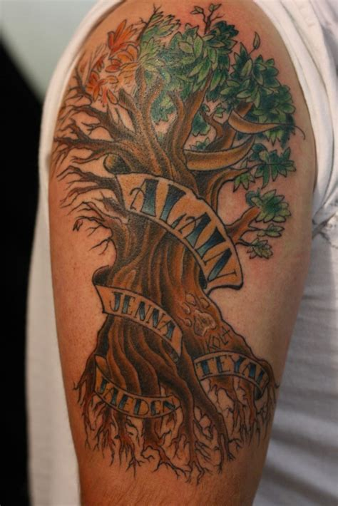 Family Tree Tattoos Designs, Ideas And Meaning Tattoos