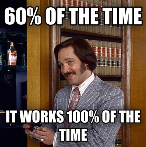 It Works Meme - livememe com 60 of the time it works every time