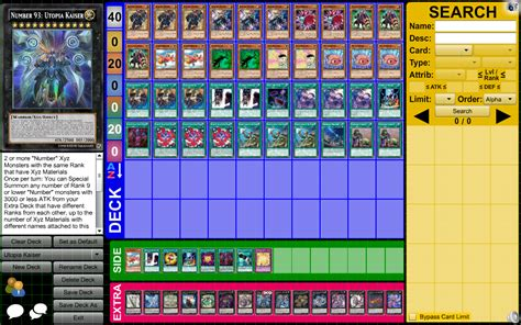 Tcg Deck List Sheet 2015 by Special Deck Utopia Kaiser Rank Up Deck By Dragonhero15