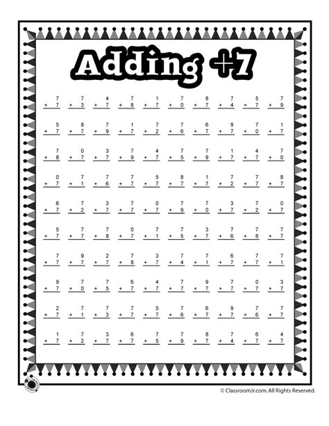 Addition Worksheets Practice Adding Single Digits  Woo! Jr Kids Activities