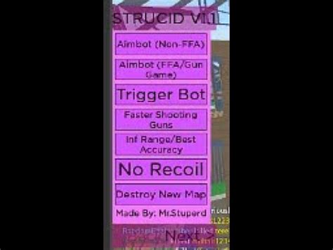 roblox strucid beta aimbot inf ammo fast shoot