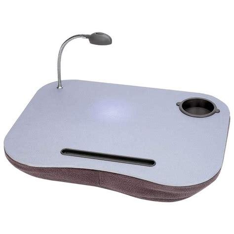 lap desk with light portable laptop desk pad with light cup pen holder new ebay