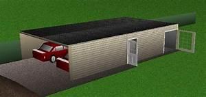 Garage En Bois Toit Plat : garage toit plat bois en kit chaletabri ~ Dailycaller-alerts.com Idées de Décoration